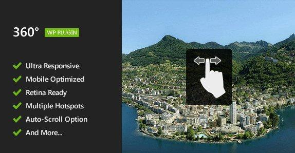 Flat 360° Panoramic Viewer – WordPress Plugin 2.1