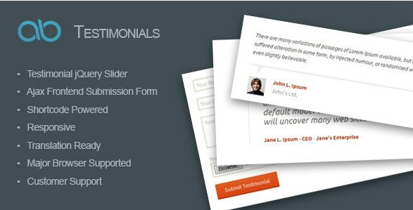 AB Testimonial WordPress Plugin 1.0.1
