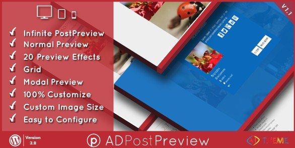 AD Post Preview WordPress Plugin 1.1