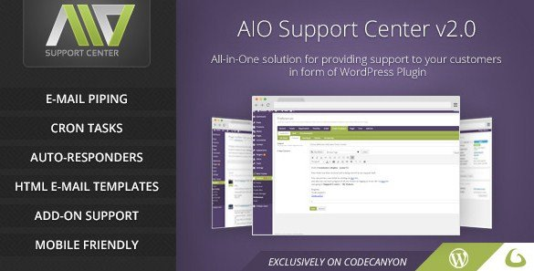 AIO Support Center – WordPress Ticketing System 2.21