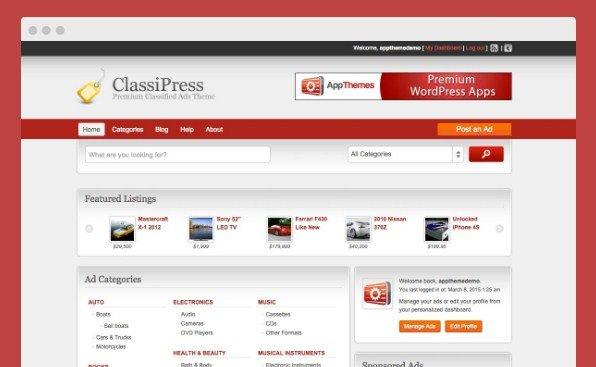 AppThemes ClassiPress WordPress Themes 3.6.0