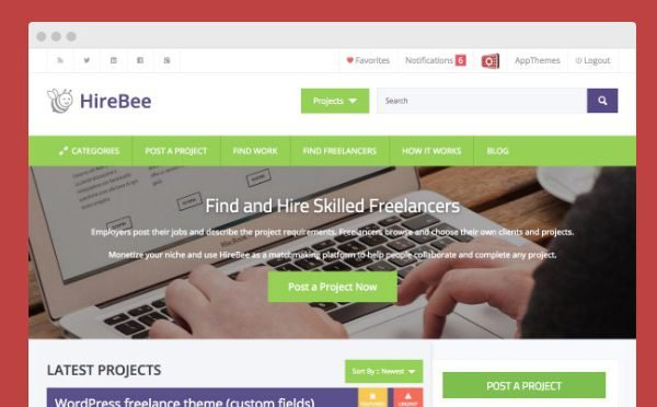 AppThemes Hirebee Wordpress Themes 1.4.1
