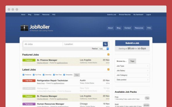 AppThemes JobRoller WordPress Themes 1.8.7