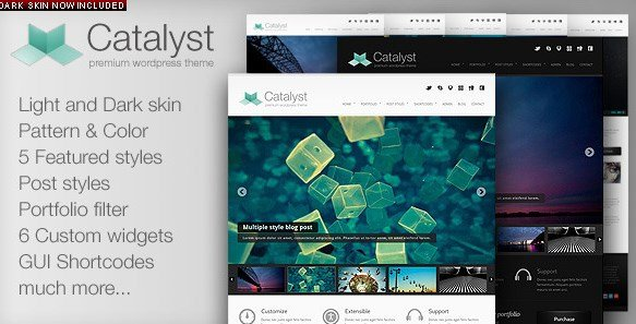 Catalyst WordPress Portfolio Theme 1.9