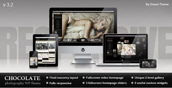 Chocolate WP – Responsive Photography Theme 3.2.3