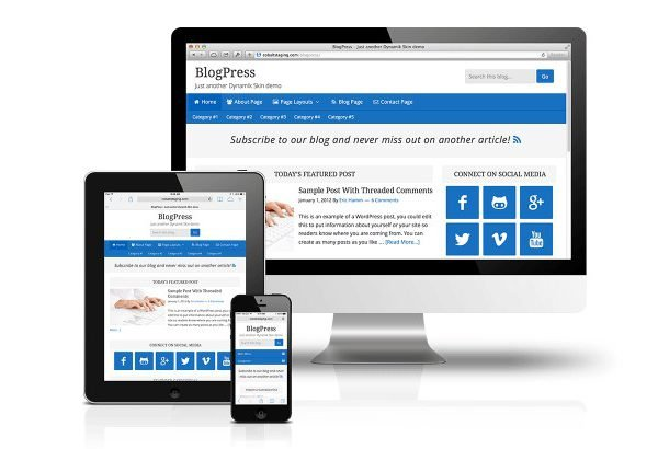 CobaltApps BlogPress Skin for Dynamik Website Builder 1.0
