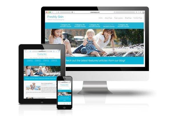 CobaltApps Freshly Skin for Dynamik Website Builder 1.0