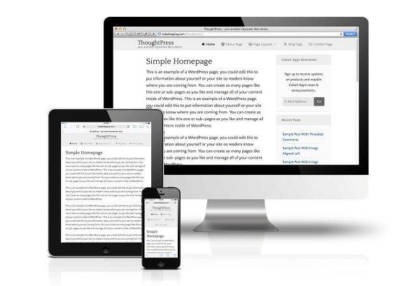 CobaltApps ThoughtPress Skin for Dynamik Website Builder 1.0