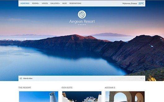CSS Igniter Aegean Resort WordPress Theme 2.3.6