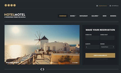 CSS Igniter HotelMotel WordPress Theme 1.8