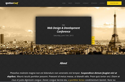CSS Igniter IgnitionConf WordPress Theme 1.5