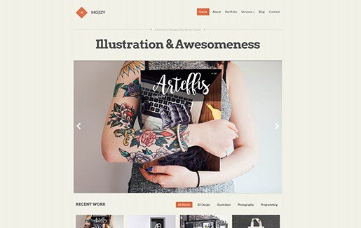CSS Igniter Mozzy WordPress Theme 1.7