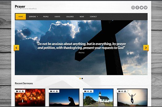 CSS Igniter Prayer WordPress Theme 1.6