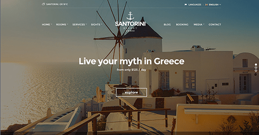 CSS Igniter Santorini Resort WordPress Theme 1.9