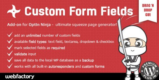 Custom Form Fields Add-on for OptIn Ninja 1.05