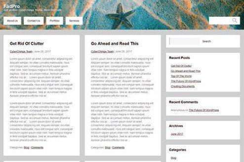 CyberChimps FadPro WordPress Theme 1.0