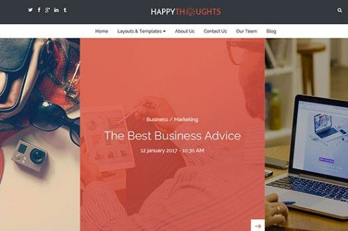CyberChimps Happy Thoughts WordPress Theme 1.3