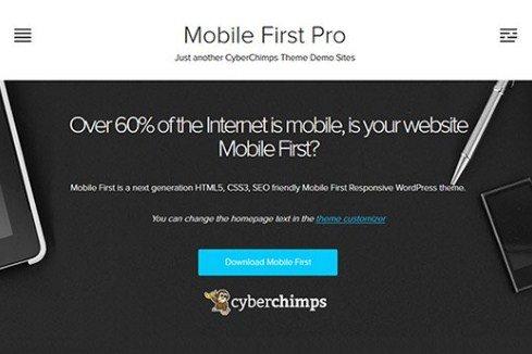 CyberChimps Mobile First Pro WordPress Theme 1.2
