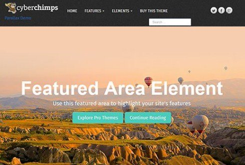 CyberChimps Parallax Pro WordPress Theme 1.3