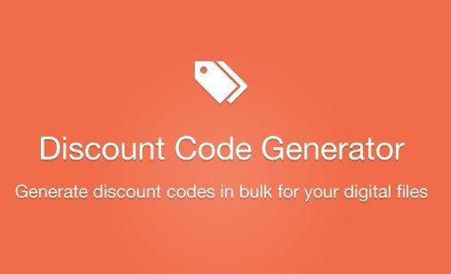 Easy Digital Downloads Discount Code Generator Addon 1.1