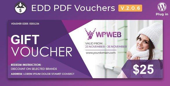 Easy Digital Downloads – PDF Vouchers 2.0.15
