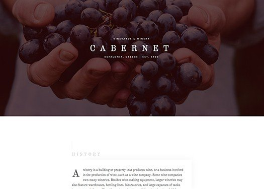 Elementorism Cabernet Landing Page 1.0