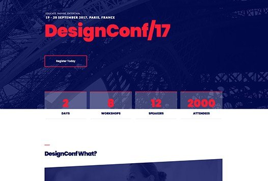 Elementorism DesignConf Landing Page 1.0