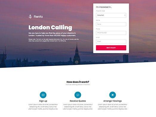 Elementorism London Landing Page 1.0