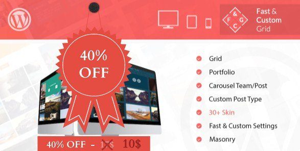 Fast & Custom Grid – WordPress Plugin 1.0