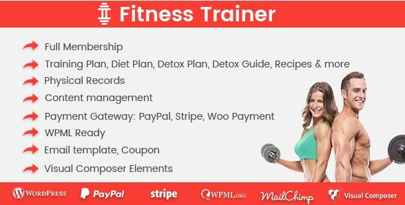Fitness Trainer – Training Membership Plugin 1.2.0