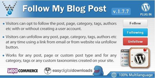 Follow My Blog Post – WordPress Plugin 1.9.3