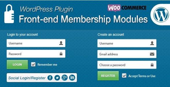 Front-end Membership Modules 1.6.9