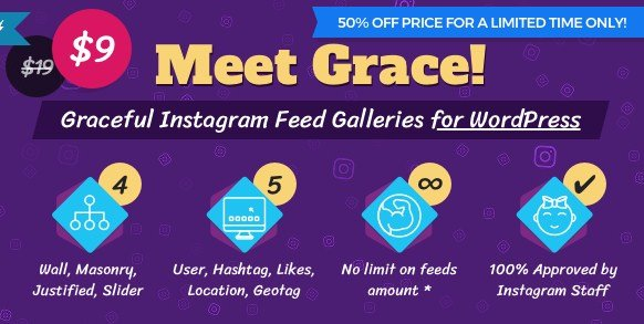 Instagram Feed Gallery – Grace for WordPress 1.1.6