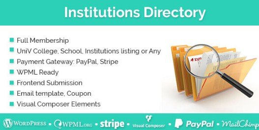 Institutions Directory WordPress Plugin 1.1.9