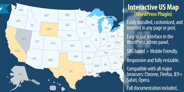Interactive US Map – WordPress Plugin 2.2.4