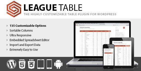League Table WordPress Plugin 2.05