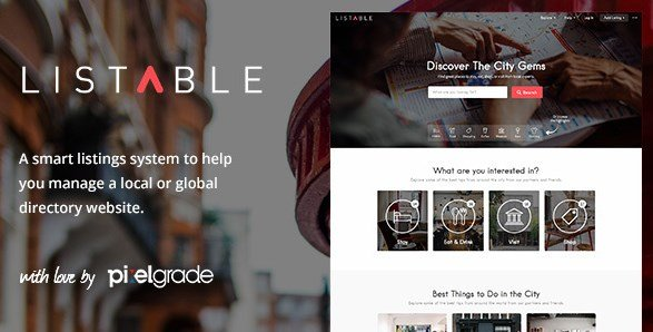 LISTABLE – A Friendly Directory WordPress Theme 1.9.4