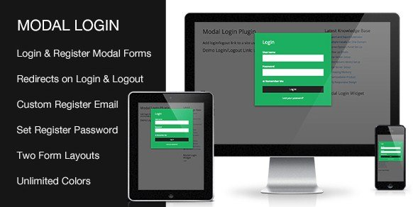 Modal Login Register Forgotten WordPress Plugin 2.0.0