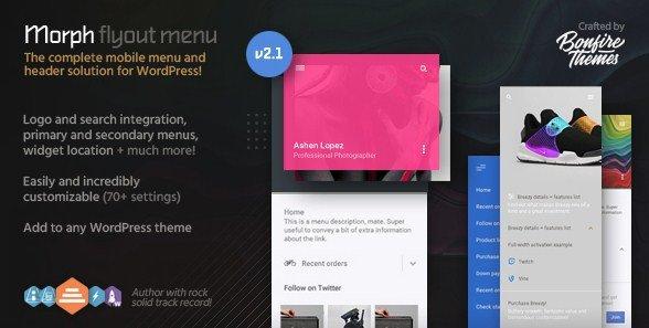 Morph – Flyout Mobile Menu for WordPress 2.1