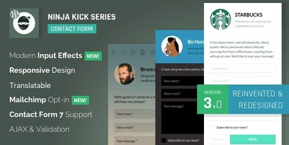 Ninja Kick – WordPress Contact Form Plugin 3.5.4