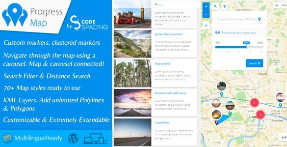 Progress Map WordPress Plugin 4.0
