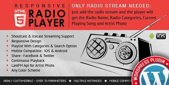 Radio Player Shoutcast & Icecast WordPress Plugin 2.2