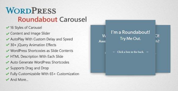 Roundabout – WordPress Carousel Slider Plugin 1.2