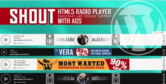 SHOUT – HTML5 Radio Player With Ads Plugin 1.4