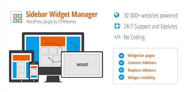 Sidebar & Widget Manager for WordPress 3.25