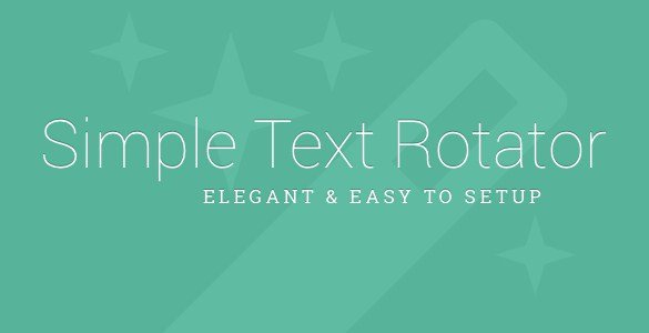 Simple Text Rotator WordPress Plugin 1.2