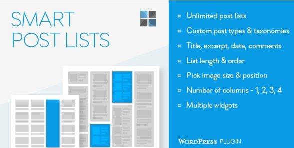 Smart Post Lists Widget for WordPress 2.12