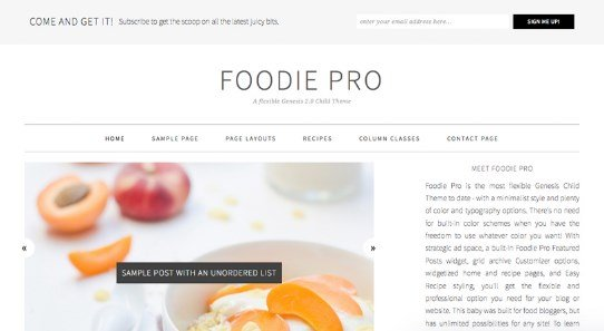 StudioPress Foodie Pro Theme 3.1.7