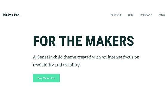StudioPress Maker Pro Theme 1.0.0