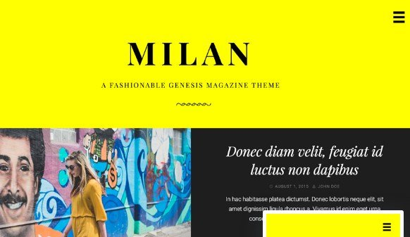 StudioPress Milan Pro Theme 1.1.0